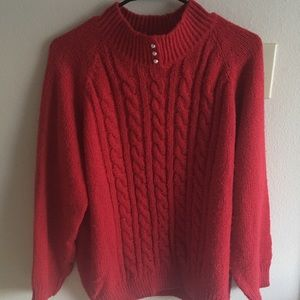 Mock Neck Red Sweater